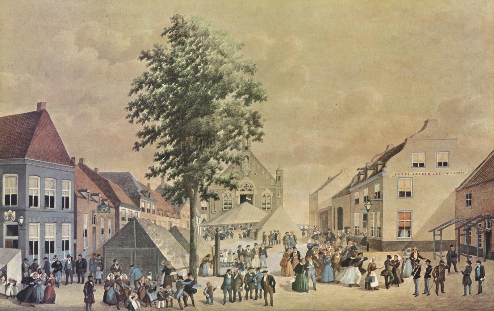 Maasstraat  Kermis  1880  origineel